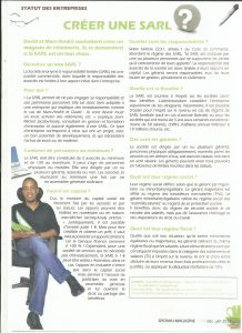 Article Sarl Objectif Insertion